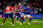 Mikel Balenziaga Oruesagasti of Athletic de Bilbao (L) fights for the ball with Rodrigo Cascante of Atletico de Madrid during the La Liga 2018-19 match between Atletico de Madrid and Athletic de Bilbao at Wanda Metropolitano, on November 10 2018 in Madrid, Spain. Photo by Diego Gouto / Power Sport Images