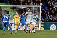 7th March 2020; Coliseum Alfonso Perez, Madrid, Spain; La Liga Football, Club Getafe Club de Futbol versus Celta Vigo; Okay Yokuslu (Celta de Vigo) turns away from Marc Cucurella (Getafe CF)
