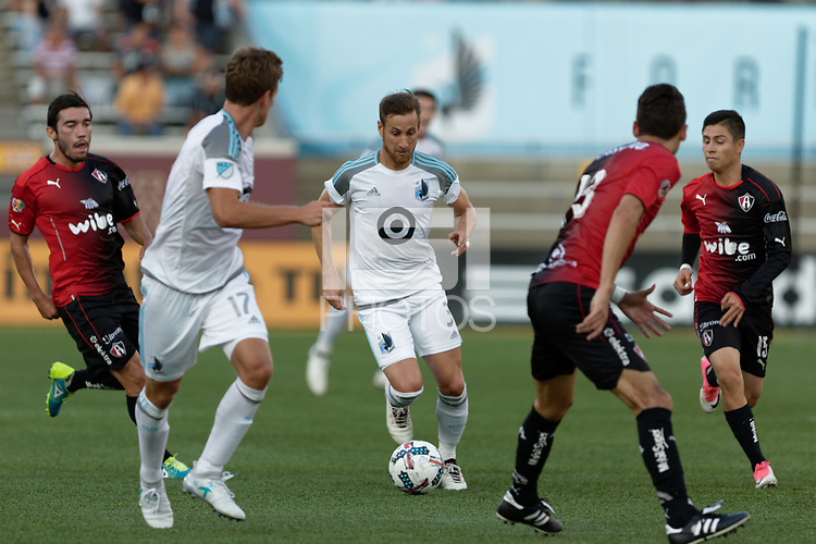Minneapolis, MN - Saturday, July 15, 2017: MLS team Minnesota United took on Liga MX's Atlas FC in an international friendly at TCF Bank Stadium. Final score United 1, Atlas 1