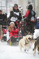 Lance Mackey leaves the 2011 Iditarod ceremonial start line in downtown Anchorage, during the 2012 Iditarod..Jim R. Kohl/Iditarodphotos.com