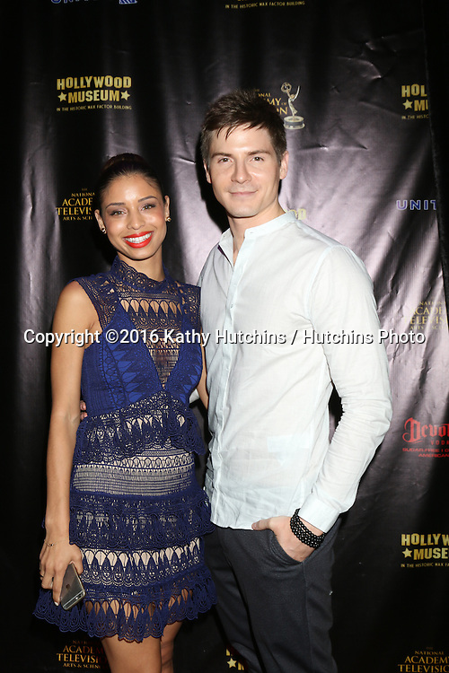LOS ANGELES - APR 27:  Brytni Sarpy, Robert Palmer Watkins at the 2016 Daytime EMMY Awards Nominees Reception at the Hollywood Museum on April 27, 2016 in Los Angeles, CA