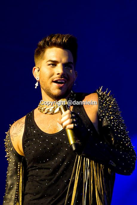Queen + Adam Lambert at the Hard Rock Hotel in Las Vegas on Saturday July 5, 2014.