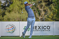 Bernd Wiesberger (AUT) watches his tee shot on 18 during round 1 of the World Golf Championships, Mexico, Club De Golf Chapultepec, Mexico City, Mexico. 3/1/2018.<br /> Picture: Golffile | Ken Murray<br /> <br /> <br /> All photo usage must carry mandatory copyright credit (&copy; Golffile | Ken Murray)