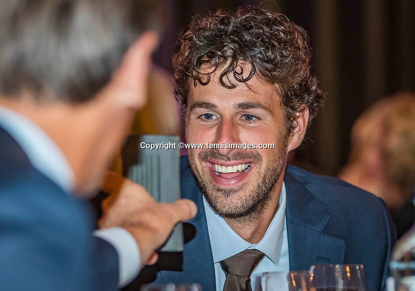 The Hague, The Netherlands, September 13, 2017,  Sportcampus , Davis Cup Netherlands - Chech Republic, Official Dinner, Robin Haase (NED)<br /> Photo: Tennisimages/Henk Koster