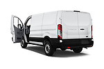 Car images close up view of a 2019 Ford Transit Van 250 LR 4 Door Cargo Van doors