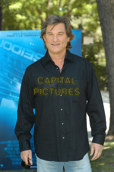 "KURT RUSSELL.Photocall for ""Poseidon"" at the casa del cinema, Rome, Italy..May 31st, 2006.Ref: CAV.half length black shirt.www.capitalpictures.com.sales@capitalpictures.com.© Capital Pictures."