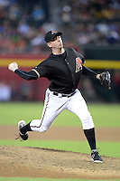 Arizona Diamondbacks pitcher Brad Ziegler (29) during a game against the Washington Nationals at Chase Field on September 28, 2013 in Phoenix, Arizona.  Washington defeated Arizona 2-0.  (Mike Janes/Four Seam Images)