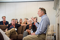 Occidental College alumni, students and their families listen to professor Dale Wright as part of Oxy's Best of the Best during Family Weekend & Homecoming, Oct. 22, 2016 in the Morrison Lounge of the JSC.<br /> (Photo by Marc Campos, Occidental College Photographer)