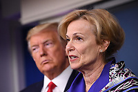 Dr. Deborah L. Birx, White House Coronavirus Response Coordinator, delivers remarks on the COVID-19 (Coronavirus) pandemic alongside United States President Donald J. Trump in the Brady Press Briefing Room at the White House in Washington, DC on Wednesday, March 18, 2020.   <br /> Credit: Kevin Dietsch / Pool via CNP/AdMedia