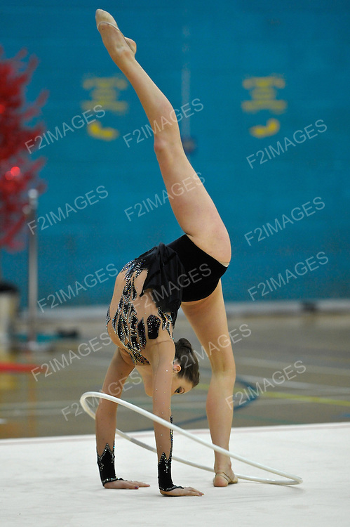 26.06.2011 British Rhythmic Gymnastics Championships from Fenton Manor in Stoke on Trent..Francesca Jones he current British Champion in action