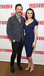 Steve Kazee and Samantha Barks attends the photo call for the New Broadway Bound Musical 'Pretty Woman' on January 22, 2018 at the New 42nd Street Studios in New York City.