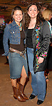 Amanda Crump and Sarah Wilson at the Cattle Baron's Ball at the George Ranch Saturday April 28,2007.(Dave Rossman/For the Chronicle)