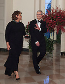Tim Cook, CEO, Apple and Ms Lisa Jackson arrive at the State Dinner for China's President President Xi and Madame Peng Liyuan at the White House in Washington, DC for an official State Visit Friday, September 25, 2015. Credit: Chris Kleponis / CNP