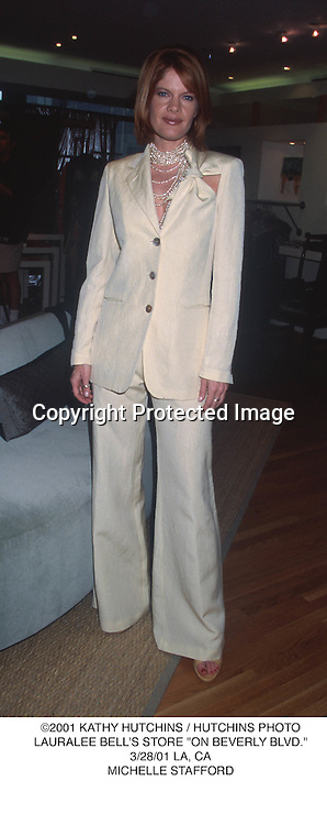 """©2001 KATHY HUTCHINS / HUTCHINS PHOTO.LAURALEE BELL'S STORE """"ON BEVERLY BLVD."""".3/28/01 LA, CA.MICHELLE STAFFORD"""