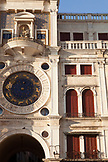 ITALY, Venice. The Torre dell'Orologio, Renaissance tower with mechanical clock located in St. Mark's Square.