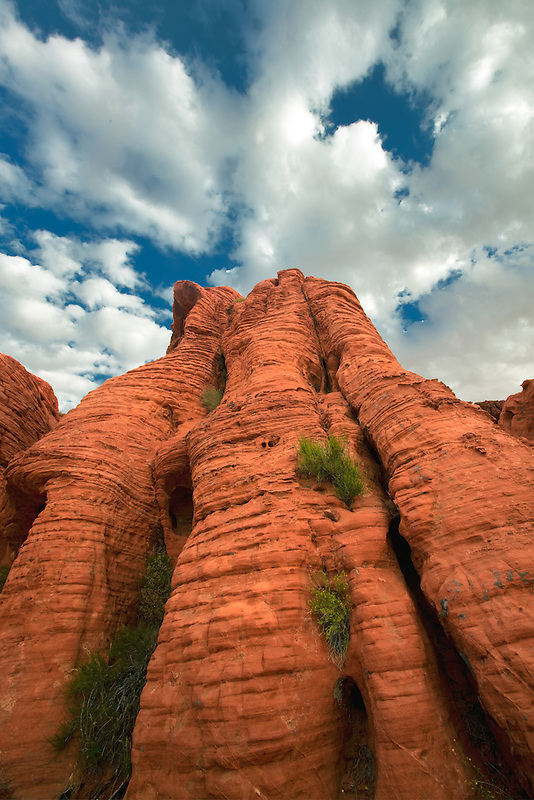 Rock monolitth and clouds. Valley of Fire State Park, Nevada