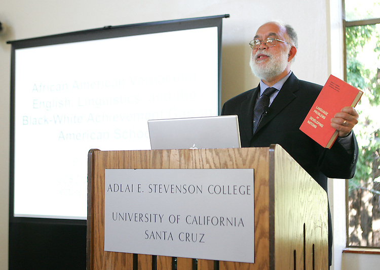 October 22, 2008; Santa Cruz, CA, USA; Professor John Rickford visits the campus of UC Santa Cruz. Photo by: Phillip Carter