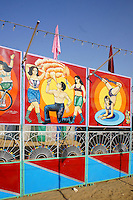 circus billboard on camel fair in holy city Pushkar, Rajastan, India