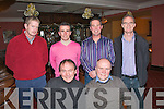 2006-2009.---------.Good Night.----------.Tralee friends for over 35yrs got together once again for their Christmas party in the Imperial hotel,Denny St,Tralee(Seated)L-R Eddie Jennings and Garry Bunyan(back)L-R Sean Brosnan,Kieran Daly,Paddy Harty and Donal Daly.