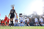 20 November 2016: North Carolina's Lindsey Harris (23) leads her teammates onto the field for the game. The University of North Carolina Tar Heels played the Clemson University Tigers at Fetzer Field in Chapel Hill, North Carolina in a 2016 NCAA Division I Women's Soccer Tournament Third Round match. UNC won the game 1-0.