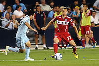 Bratislav Ristic...Sporting KC were held to a scoreless tie with Chicago Fire in the inauguarl game at LIVESTRONG Sporting Park, Kansas City, Kansas.