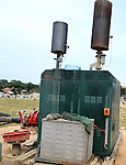Landfill, Kampala, Uganda..Machines for burning methane gas at the municipal dump in Kampala, Uganda.