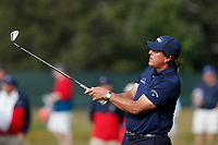 Phil Mickelson (USA) hits his second shot out of the fairway on the 15th hole during the second round of the 118th U.S. Open Championship at Shinnecock Hills Golf Club in Southampton, NY, USA. 15th June 2018.<br /> Picture: Golffile | Brian Spurlock<br /> <br /> <br /> All photo usage must carry mandatory copyright credit (&copy; Golffile | Brian Spurlock)
