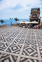 Antico Caffe San Giorgio in the main square in Castelmola, a hill top village above Taormina, Sicily, Italy, Europe. This is a photo of Antico Caffe San Giorgio in the main square in Castelmola, a hill top village above Taormina, Sicily, Italy, Europe.