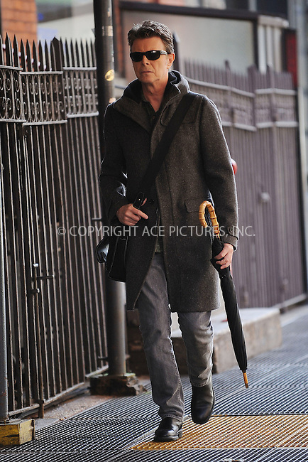 WWW.ACEPIXS.COM . . . . . ....November 3 2009, New York City....Bristish pop icon David Bowie was seen walking around his Soho neighborhood on November 2 2009 in New York City....Please byline: KRISTIN CALLAHAN - ACEPIXS.COM.. . . . . . ..Ace Pictures, Inc:  ..tel: (212) 243 8787 or (646) 769 0430..e-mail: info@acepixs.com..web: http://www.acepixs.com