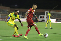 NEIVA- COLOMBIA, 27-09-2019:Acción de juego entre los equipos Atlético Huila y Rionegro durante partido por la fecha 13 de la Liga Águila II 2019 jugado en el estadio Guillermo Plazas Alcid de la ciudad de Neiva. / Action game between  Atletico Huila and Rionegro during the match for the date 13 of the Liga Aguila II 2019 played at the Guillermo Plazas Alcid Stadium in Neiva  city. Photo: VizzorImage / Sergio Reyes / Contribuidor.