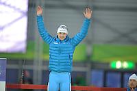 SCHAATSEN: GRONINGEN: Sportcentrum Kardinge, 18-01-2015, KPN NK Sprint, Podium 2e 500m Heren, Jesper Hospes, ©foto Martin de Jong