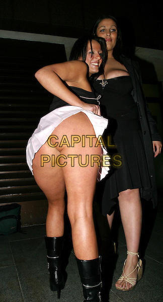 NINA.The Roundhouse. Hogan Sportswear Company. Launch Of Olypian Range.April 22nd, 2004.full length, full-length, back, behind, rear, bum, flashing.www.capitalpictures.com.sales@capitalpictures.com.© Capital Pictures.