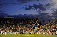 Sept. 19, 2009; Provo, UT, USA; General view of LaVell Edwards Stadium during the game between the BYU Cougars against the Florida State Seminoles.. Florida State defeated BYU 54-28. Mandatory Credit: Mark J. Rebilas-