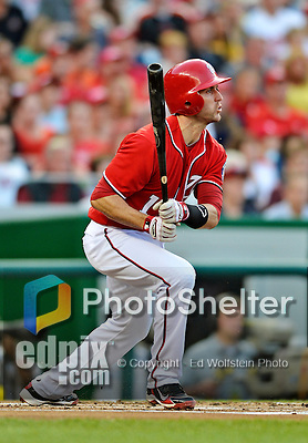 19 May 2012: Washington Nationals fielder Stephen Lombardozzi in action against the Baltimore Orioles at Nationals Park in Washington, DC. The Orioles defeated the Nationals 6-5 in the second game of their 3-game series. Mandatory Credit: Ed Wolfstein Photo