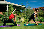 Yoga fitness instruction & Gazebo at Red Mountain Resort, Ivins, Utah's Dixie, near St. George, UTAH