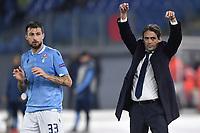 Francesco Acerbi and Simone Inzaghi coach of SS Lazio <br /> Roma 28-11-2019 Stadio Olimpico <br /> Football Europa League 2019/2020 <br /> SS Lazio - CFR Cluji <br /> Photo Andrea Staccioli / Insidefoto