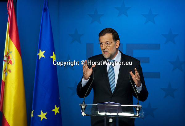 Brussels-Belgium - October 19, 2012 -- European Council, EU-summit, meeting of Heads of State / Government; here, Mariano RAJOY BREY, Prime Minister of Spain, during his press conference at the end of the two-days-meeting -- Photo: © HorstWagner.eu