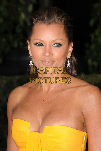 VANESSA WILLIAMS.14th Annual Screen Actors Guild Awards held at the Shrine Auditorium, Los Angeles, California, USA, 27 January 2007..SAG portrait headshot strapless yellow.CAP/ADM/BP.©Byron Purvis/AdMedia/Capital Pictures.