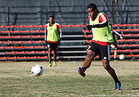 WASHINGTON, DC - NOVEMBER 14, 2012: Ethan White (15) of DC United during a practice session before the second leg of the Eastern Conference Championship at DC United practice field, in Washington, DC on November 14.