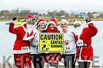 Mags Relihan and Eileen Walsh, (Listowel) Mags Quinlinan (Tralee) with Margaret Cahill and Joan Keane (Listowel), who took part in thee Santa Run at Tralee Bay Wetlands on Sunday morning last.