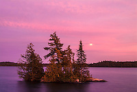 Sunset on Crow (Kakagi) Lake<br /> Near Nestor Falls<br /> Ontario<br /> Canada