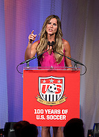 Brandi Chastain. US Soccer held their Centennial Gala at the National Building Museum in Washington DC.