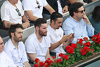 Spanish actors Dani Martinez (l) and Canco Rodriguez (c-r), Real Madrid Basketball player Rudy Fernandez (c-l) and the Chef Pepe Rodriguez during Madrid Open Tennis 2018 match. May 11, 2018.(ALTERPHOTOS/Acero) /NORTEPHOTOMEXICO