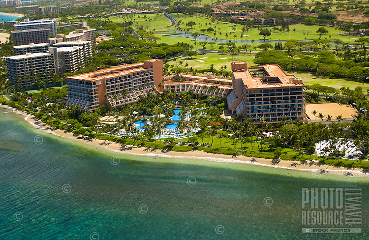 Aerial of the Marriott Hotel on Kaanapali Beach