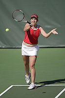 11 March 2007: Celia Durkin during Stanford's 5-2 win over Texas at the Taube Family Tennis Stadium in Stanford, CA.