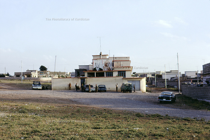 Irak 1971.Le bureau du PDK à Souleimania.Iraq 1971.KDP office in Suleimania.