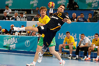 15.01.2013 World Championshio Handball. Match between Spain vs Australia (51-11) at the stadium La Caja Magica. The picture show  Carlos Ruesga Pasarin (Left Back of Spain)