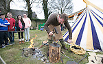 A Black Smith making a dagger in the  Re-Enactment Camp at The Brian Boru Festival in Killaloe/Ballina during the Commemoration Weekend.<br /> Pictured Credit Brian Gavin Press 22