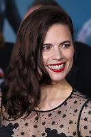 "HOLLYWOOD, LOS ANGELES, CA, USA - MARCH 13: Hayley Atwell at the World Premiere Of Marvel's ""Captain America: The Winter Soldier"" held at the El Capitan Theatre on March 13, 2014 in Hollywood, Los Angeles, California, United States. (Photo by Xavier Collin/Celebrity Monitor)"