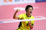 Tsubasa Sato (JPN),<br /> AUGUST 24, 2018 - Sepak takraw : <br /> Men's Doubles Preliminary match between Japan - Philippines<br /> at Jakabaring Sport Center Ranau Hall <br /> during the 2018 Jakarta Palembang Asian Games <br /> in Palembang, Indonesia. <br /> (Photo by Yohei Osada/AFLO SPORT)
